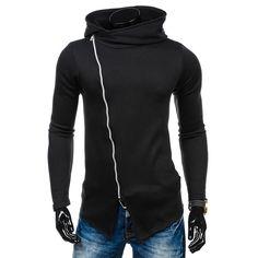 Hoodies Men 2017 Brand Male Long Sleeve Hoodie Zipper Solid Sweatshirt Moletom Masculino Hoodies Slim Fit Tracksuit