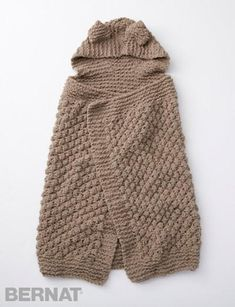 Squirreled Away Baby Blanket | With this knit baby blanket, your little one can snuggle up and pretend he's a squirrel!