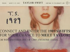 """Enter The """"1989 SwiftStakes"""" Sweepstakes for a chance to win 1 of 250 Pairs of tickets to see Taylor Swift in Concert and a meet and greet with Taylor Swift!"""