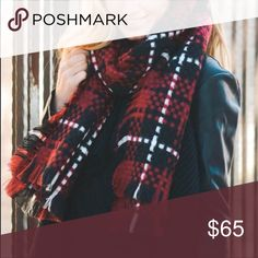 """Woven Plaid 'Dartmouth' Blanket Scarf Is there anything else that screams """"Fall!"""" As much as this piece? So cozy, so adorable, so needs to be a part of your wardrobe. Gorgeous woven details. 60""""x60""""  Don't like the price? 💸 Make me an offer with the button below! 👇🏻 kate elle Accessories Scarves & Wraps"""