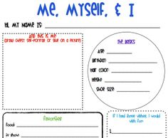 All About ME! Printable | Childcare, Fields and Parents