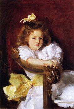 """""""Charlotte Cram"""" (1900) by John Singer Sargent (1856-1925)."""