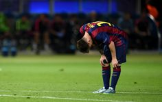 Lionel Messi of Barcelona reacts during the UEFA Champions League Final between Juventus and FC Barcelona at Olympiastadion on June 6, 2015 in Berlin, Germany.