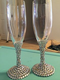 Toasting Glasses for a wedding or any other by WeddingGlamor