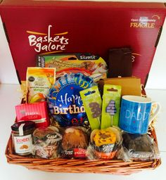 34th birthday gift basket for a fun & fabulous daddy
