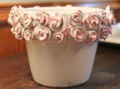 The other week I showed you how to upcycle aboring, everyday, can't swing a dead cat with out hitting one, terra cottaflower pot into a shabby chic, chippy pot by using spray paint and candle wax. Click here to see the full tutorial. The upcycled pot for today uses many of the same materials and …