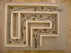 Kid made - wood labyrinth!