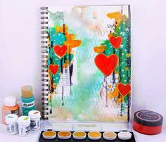 "Song Li - she said her page is filled with ""Love""... On THE DYAN REAVELEY ART JOURNALING Gateway Group..."