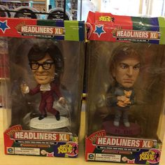 """""""#austinpowers #drevil #movieheadlinersxl Preowned ltd edition 1999 movie headliners xl 8 inch sculptures of Austin Powers and Dr Evil £15 each or both for £25  Instore now and online on depop shop http://www.depop.com/en-gb/diversionsLike this? I'm selling it on @depopmarket. Search for me: diversions on #depop ✌ """" Photo taken by @diversionsgifts.co.uk on Instagram, pinned via the InstaPin iOS App! http://www.instapinapp.com (07/11/2015)"""