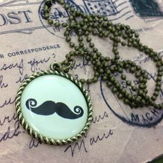 MUSTACHE Necklace Mustache, Trending Outfits, Unique Jewelry, Handmade Gifts, Etsy, Vintage, Kid Craft Gifts, Moustache, Handcrafted Gifts