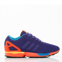 Adidas has come through yet again. Eye popping contrast of purple, neon orange and neon blue create a stunning amalgamation of colors for the ultimate look when you are crushing the track.  www.coolneonshoes.com  #Shoe #Adidas #trainer #jogger #runner #orange #purple #blue #neon