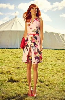 Ted Baker London 'Nude Oil Painting' Floral Print Dress .....