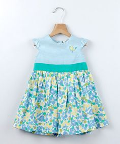 Green Chick Embroidery Baby & Toddler Dress with Floral Skirt by Beebay Girls on #zulilyUK today!