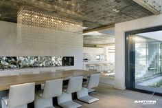 That is one fabulous chandelier! Pearl Valley 334 House Interior by Antoni Associates
