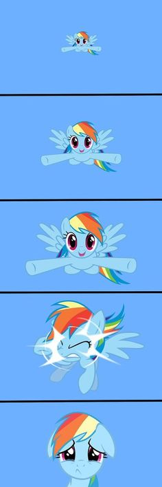 Rainbow Dash Dilemma by - A Member of the Internet's Largest Humor Community My Little Pony Comic, My Little Pony Pictures, Mlp My Little Pony, My Little Pony Friendship, Rainbow Dash, Mlp Comics, Funny Comics, Desenhos Gravity Falls, Little Poni