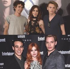 The Mortal Instruments Movie - Shadowhunters TV Show. On the top and bottom from left to right we have Simon,Clary,Jace. The characters in the TV fit their characters better. Mortal Instruments Movie, Immortal Instruments, Shadowhunters The Mortal Instruments, Simon And Clary, Clary Y Jace, Constantin Film, Jace Lightwood, Shadowhunter Academy, Shadowhunters Tv Show