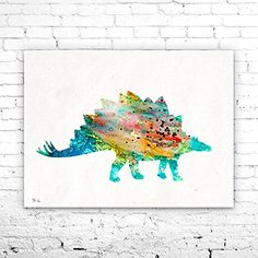 Stegosaur 3 Dinosaur Watercolor Print, watercolor painting, watercolor art, home decor, watercolor animal, Kids Wall Art, Dinosaur art. Stegosaur 3 Dinosaur Watercolor Print, watercolor painting, watercolor art, home decor, watercolor animal, Kids Wall Art, Dinosaur art, My prints are made in my own art studio by me, using Epson Pigment Inks, which are tested and guaranteed not to fade for at least 100+ years and fine art watercolor paper. I use Epson best wide format printers! If you are...