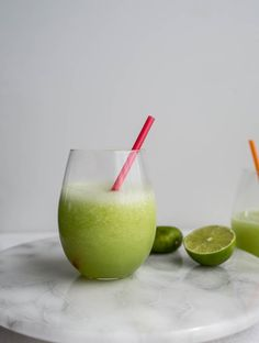 Frozen Honeydew Daiquiris – Salted Plains Honeydew Smoothie, Honeydew Melon, Cocktail And Mocktail, Smoothie Drinks, Cocktail Recipes, Smoothie Recipes, Healthy Smoothies, All You Need Is, Cocktails