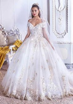 Timeless silhouettes meet dramatic embellishments in the 2019 Platinum by Demetrios bridal collection. Here you'll find voluminous lace ball gowns with exquisitely Princess Ball Gowns, Princess Wedding Dresses, Dream Wedding Dresses, Wedding Gowns, Demetrios Wedding Dresses, Wedding Ceremony, Camo Wedding, Wedding Lace, Lesbian Wedding