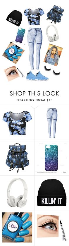 """""""Killin' It"""" by cam-12 on Polyvore featuring NIKE, Beats by Dr. Dre and Luminess Air"""