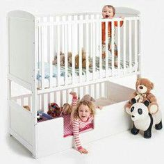 Baby crib bunk beds