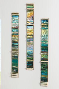 Mosaic Nature Tones I by Alicia Kelemen (Art Glass Wall Sculpture)   Artful Home