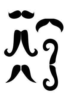 Photobooth Props - mustaches (2481×3509)