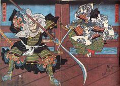 Utagawa Toyohiro / Onzoshi Ushiwakamaru und Musashibo Benkei