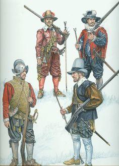 European matchlock musketeers of the Elizabethan period
