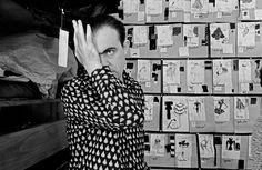Christian Lacroix photographed by Abbas in his studio from February to July 1987, while the 36-year-old designer worked feverishly on his folkloric debut
