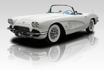 Looking for the perfect Corvette to enjoy warm summer nights with? Check out this 1961 Corvette roadster. The car received an extensive frame-off restoration in the 1980's and, recently, underwent another frame-up to make sure everything was in top working order. The fresh Ermine White paint highlights the body lines well while fit and finish is above period GM standards in every way possible. From the Argent Silver mesh grille to the signature four round taillights, all ornamentation…