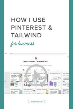 Using Pinterest and Tailwind has been a huge help in growing my audience! See how I use it each week with this video.