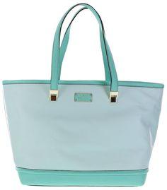 Kate Spade Oliver Street Taren Leather Tote Shoulder Bag Grace Fresh Air Blue #katespade #TotesShoppers