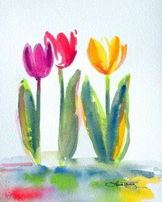 Einfach und süss Original Watercolor Painting von lauratrevey