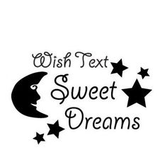 "Style and Apply Sweet Dreams Wall Decal Size: 21"" H x 31"" W, Color: Yellow"