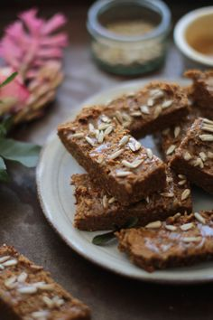 Sweet Potato Bars with a Sweet Tahini Drizzle