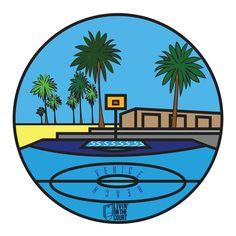 basketball court sticker veniceball ball league Venice beach