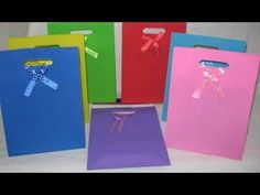 Como hacer bolsas de papel para regalo  - Bolsas de papel decoradas