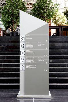 Category: Wayfinding/exterior environment Designer: Bentuk Source:http://www.bentuk.com/ Inspiration: I enjoy the use of minimal materials for this sign.