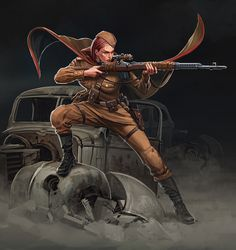 Concept for Reich Busters by Mythic Games Character Concept, Character Art, Character Design, Zombie Apocalypse Outfit, Steampunk, Civil War Photos, Character Portraits, Outdoor Art, Military Art