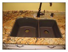 Golden Crystal Granite Pictures   Golden Crystal Granite, Blanco Composite  Sink   House   Pinterest   Granite, Sinks And Granite Countertop