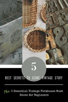 You have got to check out this blog post these are some of the best secrets in the business to finding vintage!  Also, there are great tips for anyone just getting started in vintage farmhouse décor!  It's all over on Rustic Eye's blog www.livethisway.com