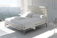 ffbd7b8529cc The Boss Bed Series from Alivar has been a popular contemporary bed design  for several years. It combines the look of the Mies van der Rohe Pavilion  chair ...