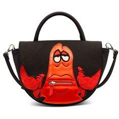 Danielle Nicole Black The Little Mermaid Sebastian Satchel ($78) ❤ liked on Polyvore featuring bags, handbags, black, shoulder strap purses, zip bag, satchel purses, danielle nicole and zipper purse