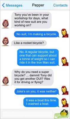Marvel Jokes, Marvel Funny, Marvel Heroes, Funny Comics, Marvel Dc, Marvel Comics, Ant Man Avengers, Avengers Texts, Superhero Texts