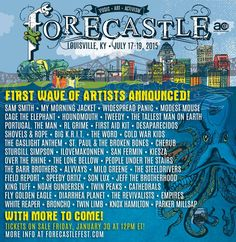 ---I thought we would go----now you vacation w someone else????? Forecastle Festival 2015 Lineup Poster
