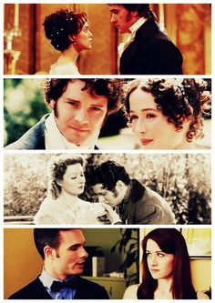 themeryton:    The many versions of the best couple ever. Elizabeth Bennet and Fitzwilliam Darcy *-*