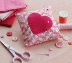 Pink Pincushion | 25 Easy Sewing Projects That Every Beginner Will Find Inspiring
