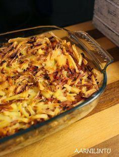 Aarnilintu: Arjen ja laihdutuskuurin pelastava kinkkukiusaus Mango Chicken, Coconut Curry, Macaroni And Cheese, Food And Drink, Potatoes, Baking, Dinner, Ethnic Recipes, Koti