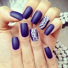 Simple Matte Nail Art Designs for Beginners (35)